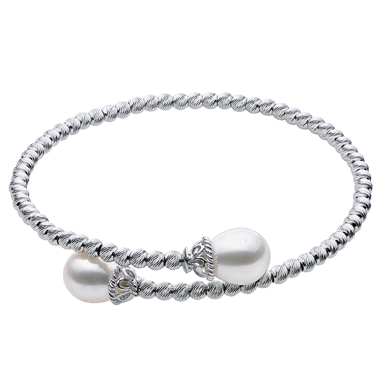 Sterling FW Pearl Bangle