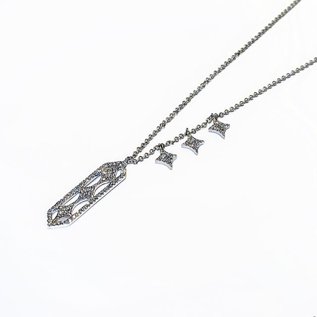 Dagger Diamond Pendant Necklace