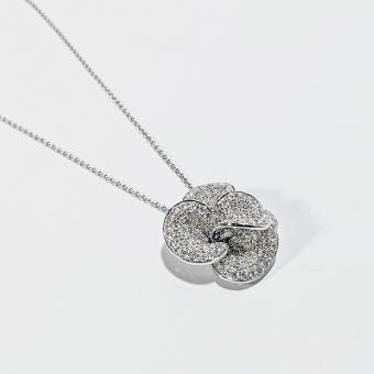 Gold & Diamond Flower Pendant