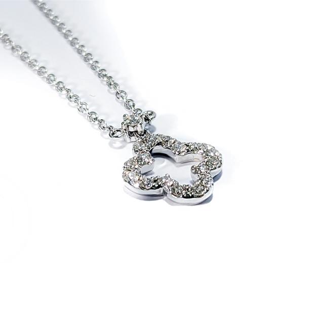 Diamond Quatrefoil Pendant