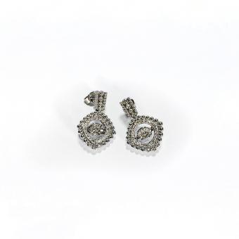 White Gold & Diamond Earrings