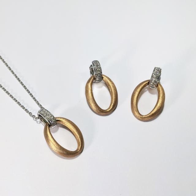 Rose Gold Oval Earrings
