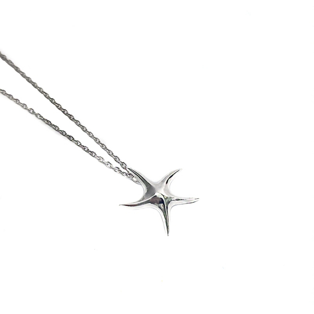 Sterling Starfish Pendant Necklace