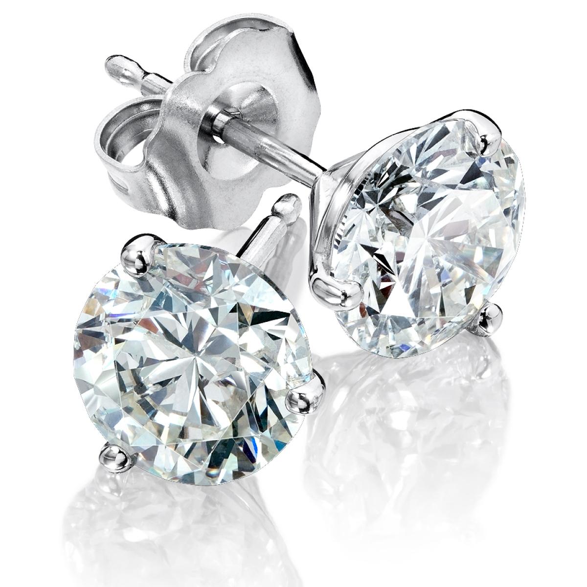 Diamond Stud and Cluster Earrings