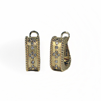 Gold & Diamond Earring