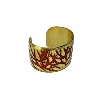 Gold-Leaf Twig Art Cuff