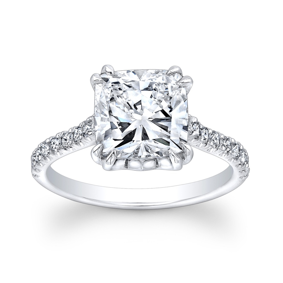 Cushion-Cut Solitaire Engagement Ring