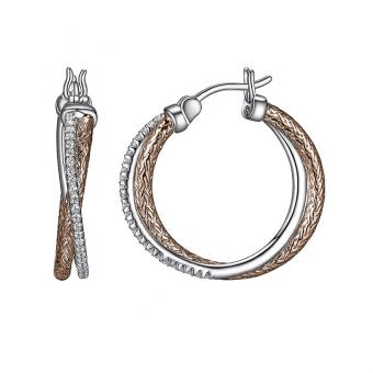 Sterling/ Gold Hoop Earrings