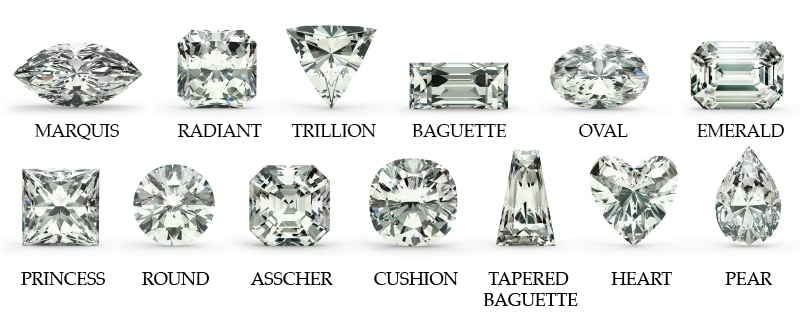 Diamond Shapes And Cut Styles